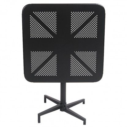 Square Metal Folding Table in Black Finish