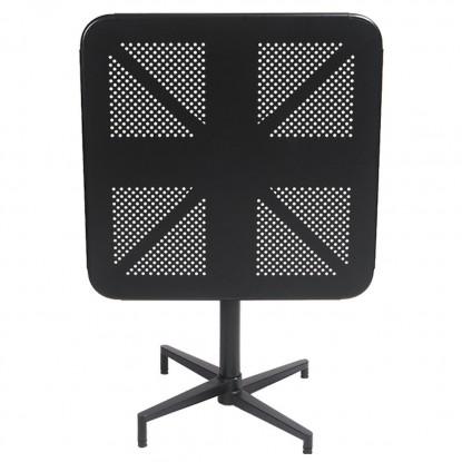 Square Metal Folding Table in Black Finish