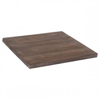Outdoor Resin Table Top in Dark Walnut Finish