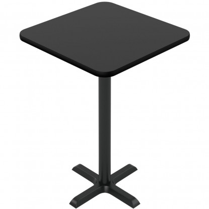 Laminate Reversible Restaurant Table In Black / Mahogany