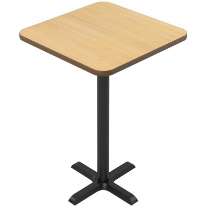 Laminate Reversible Restaurant Table In Oak / Walnut - Bar Height