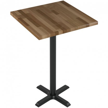 Premium Solid Wood Butcher Block Restaurant Table - Bar Height