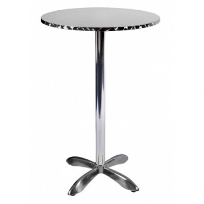 Stainless Steel Table Set - Bar Height