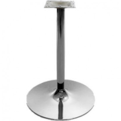 "Chrome Rounded Bases - 30"" Table Height"