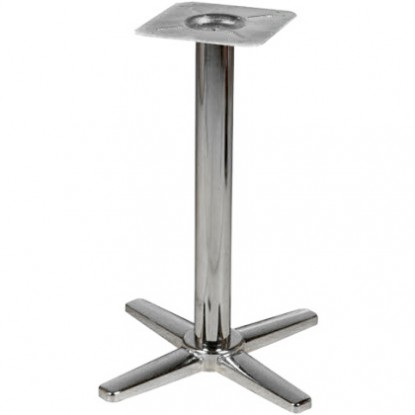 "X Prong Chrome Bases - 30"" Table Height"