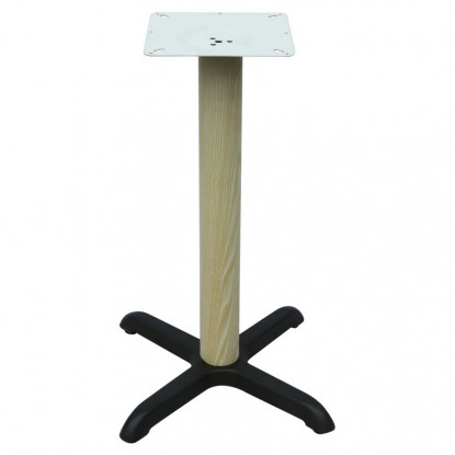 "Premium Wood Look X Prong Table Base  (30"" Table Height)"
