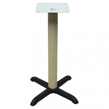 """Premium Wood Look X Prong Table Base (42"""" Bar Height)"""