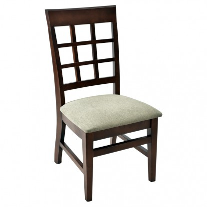 Extra High Premium Window Back Wood Chair
