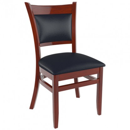 Premium Padded Back Wood Chair