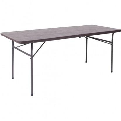 Wood Grain Folding Table