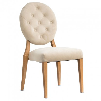 Julianna ButtonTufted Back Upholstered Aluminum Chair