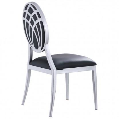 Deco Lotus Back Aluminum Chair