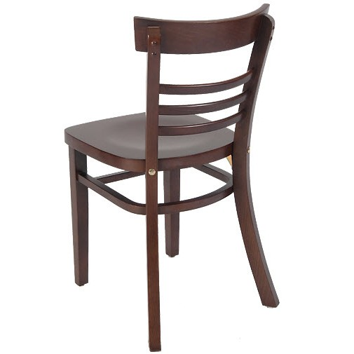 Wooden Ladder Back Chair With Extended Edges