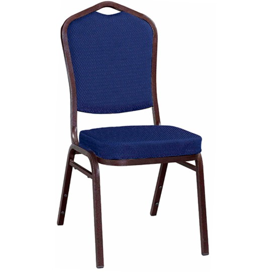 Metal Stack Chair Copper Vein Frame With Blue 2024 Fabric