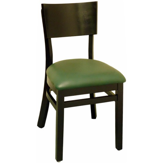 Curved Back Wood Restaurant Chair