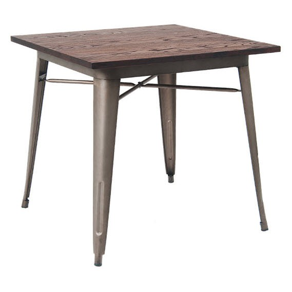 Industrial Series Restaurant Table With Metal Legs And