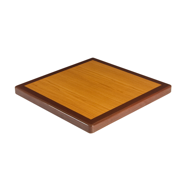 Mahogany And Cherry Resin Table Top