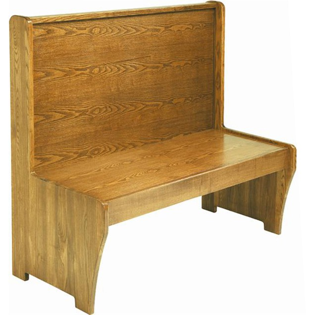 Wood Bench With Wood Seat Back