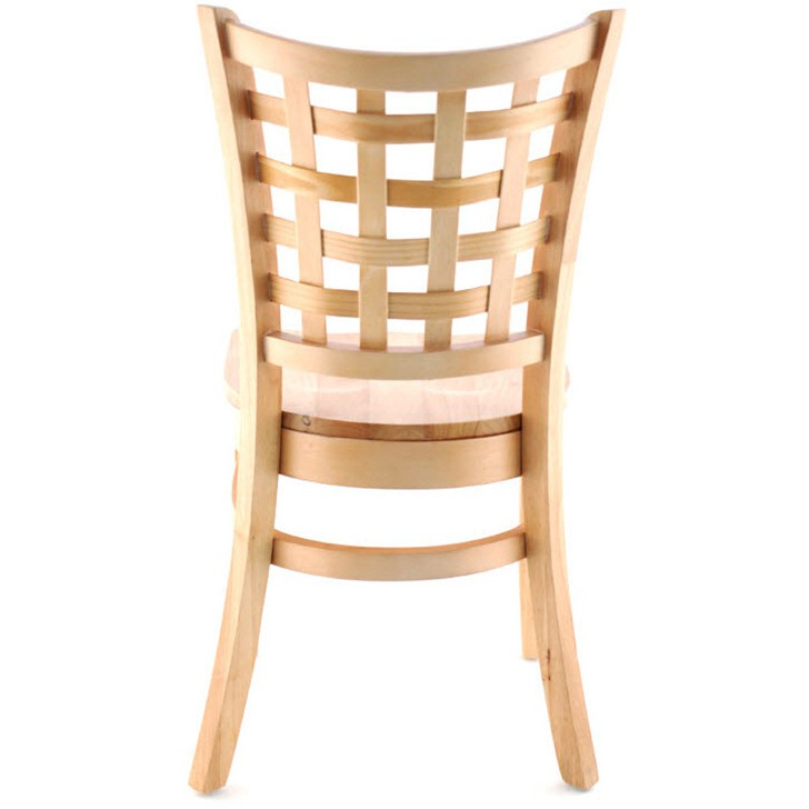 us made lattice back wood chair natural finish with a wood seat