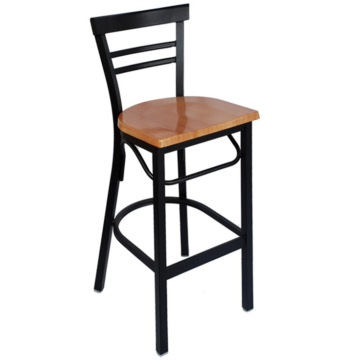 Rounded Ladder Back Metal Bar Stool