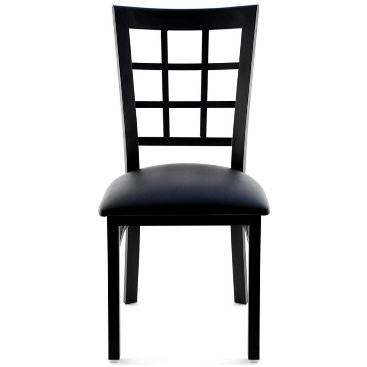 window back metal restaurant chair
