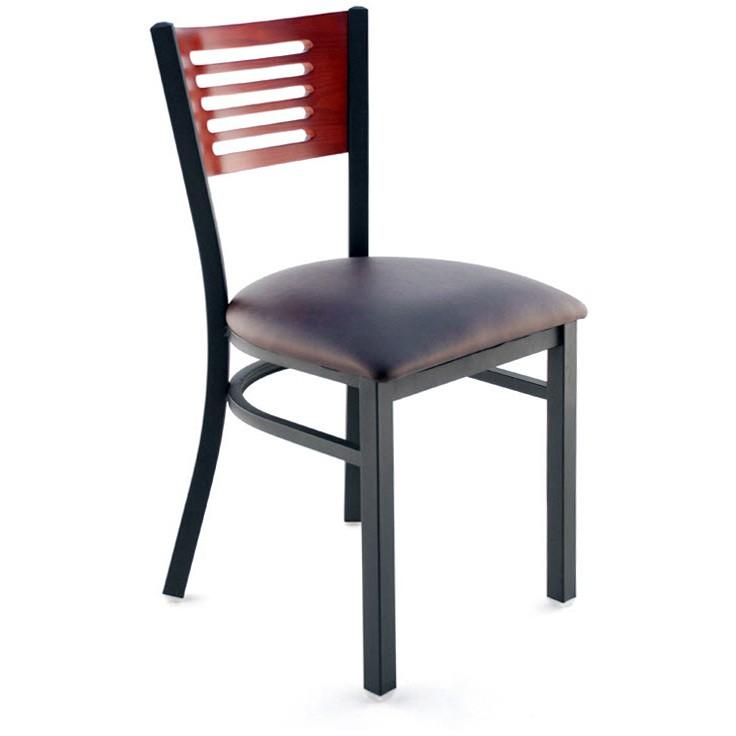 Interchangeable Back Metal Chair 5 Slats In Back