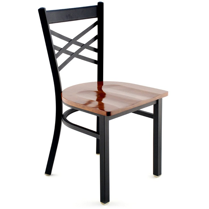 X Back Metal Restaurant Chair
