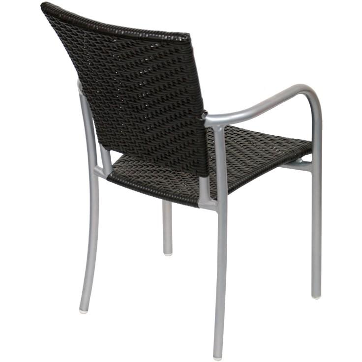 faux rattan aluminum patio chair