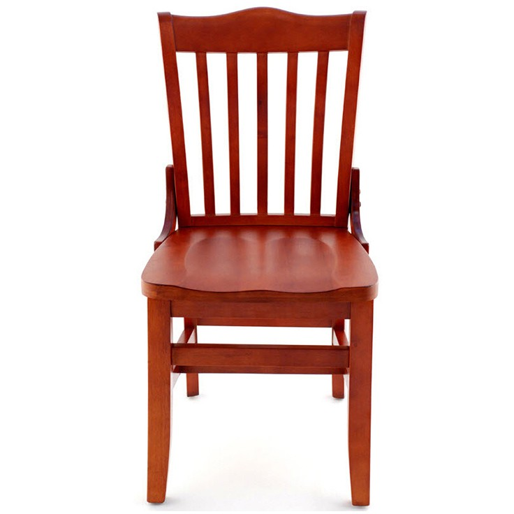 Superbe ... Premium US Made School House Wood Chair   Mahogany Finish With A Wood  Seat ...