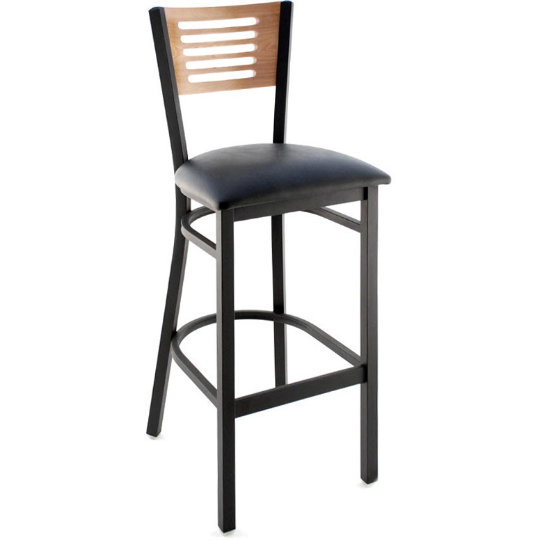 Interchangeable Back Metal Bar Stool With 5 Slats