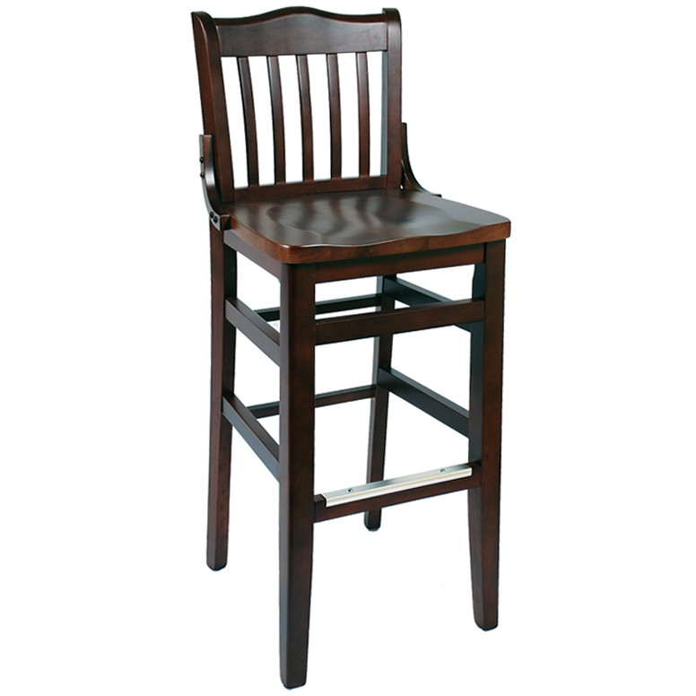 Wood Stools Product ~ Schoolhouse wood bar stool