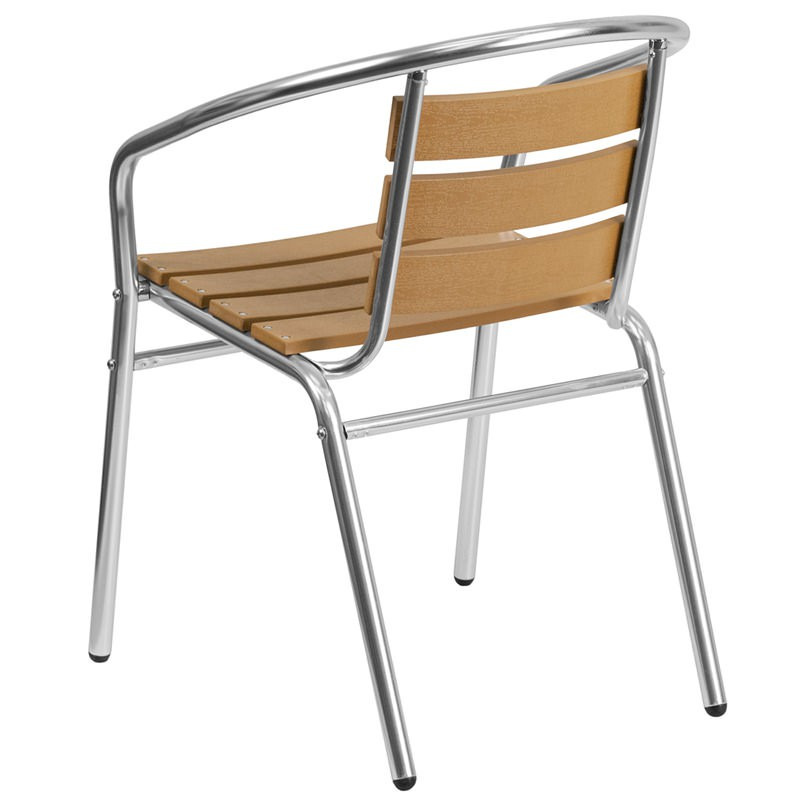 Economy Aluminum Amp Faux Teak Patio Chair