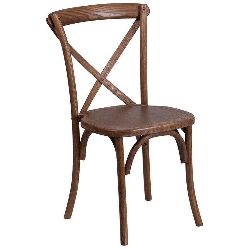 Stackable X Back Wood Restaurant Chair