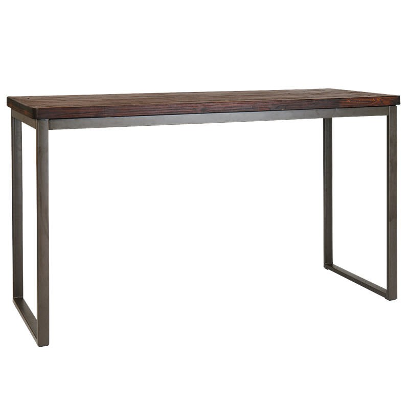 Industrial Series Bar Height Table With Metal Frame And