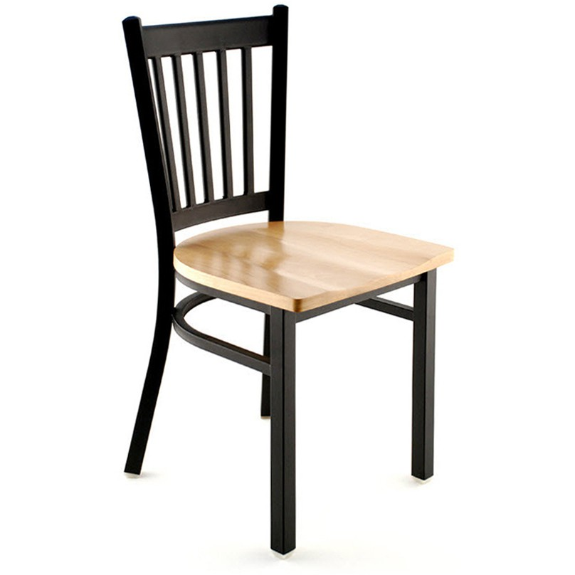 Metal Vertical Slat Restaurant Chair