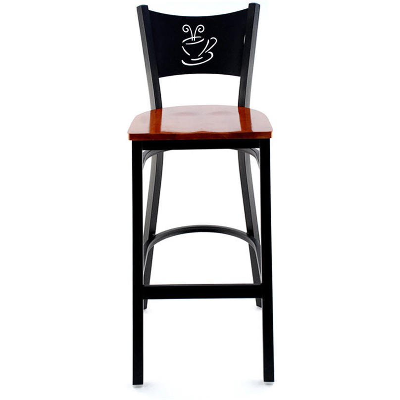 Coffee cup metal restaurant bar stool