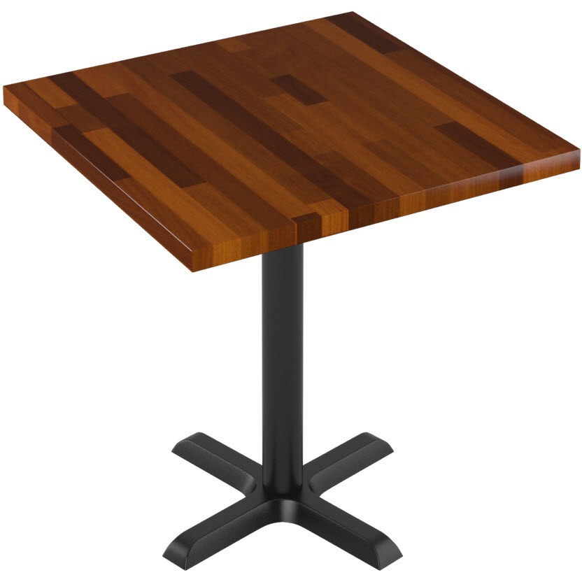 Premium solid wood butcher block restaurant table for Restaurant table menu