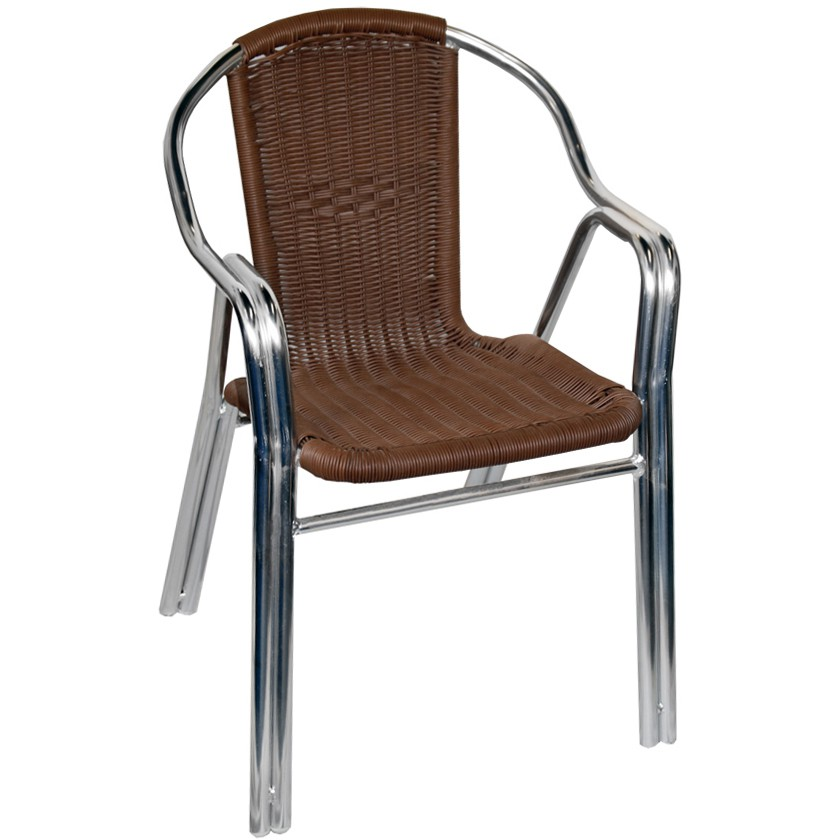 aluminum and rattan patio chair fru 404