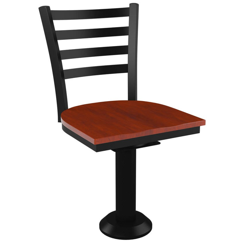 Ladder Back Bolt Down Swivel Metal Chair