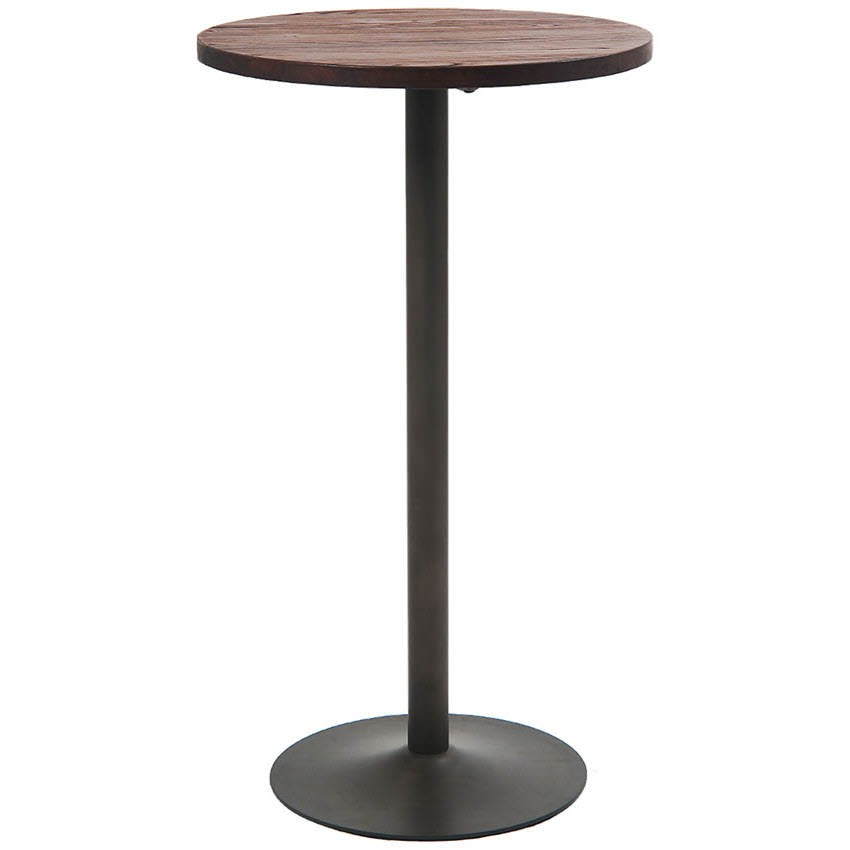 Round Industrial Series Bar Height Restaurant Table