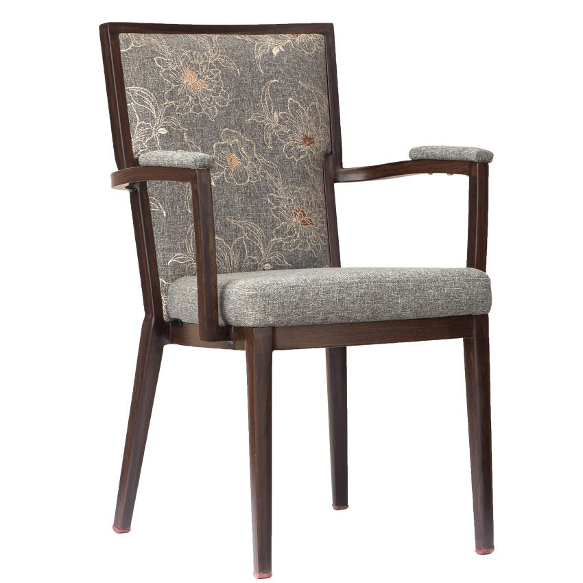Greebo High Back Wood Grain Aluminum Chair