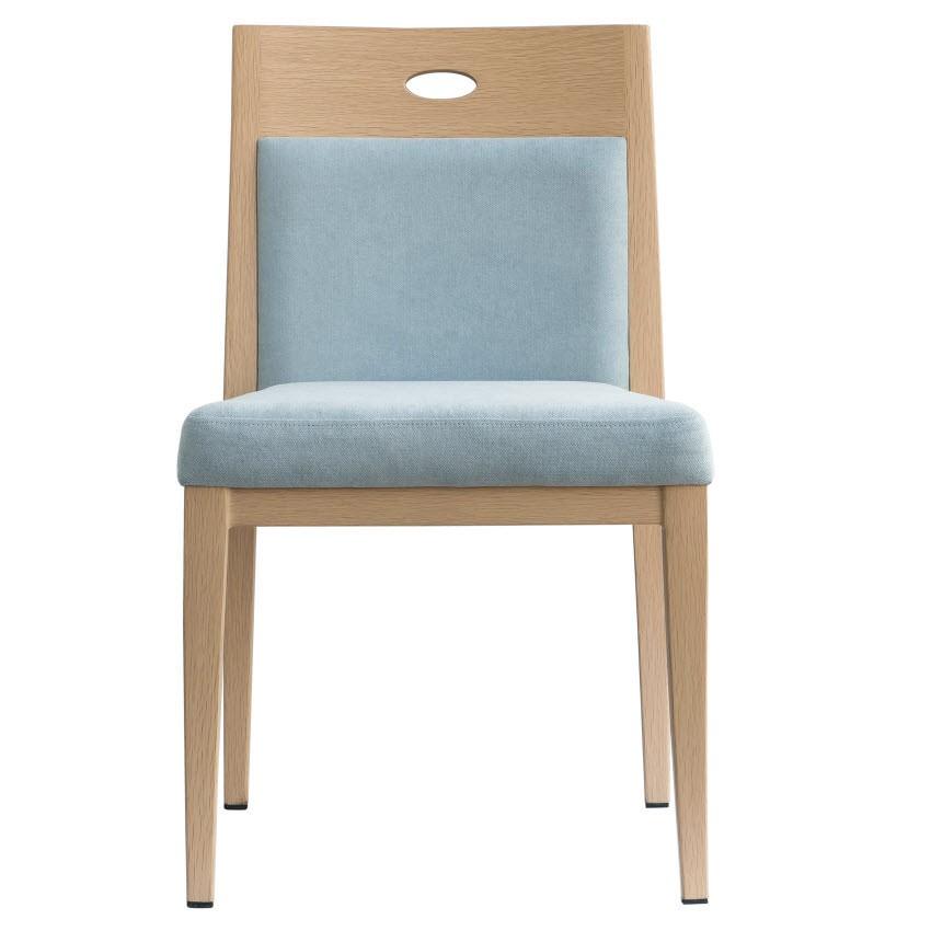Orson Ultra Modern Padded Wood Grain Aluminum Chair
