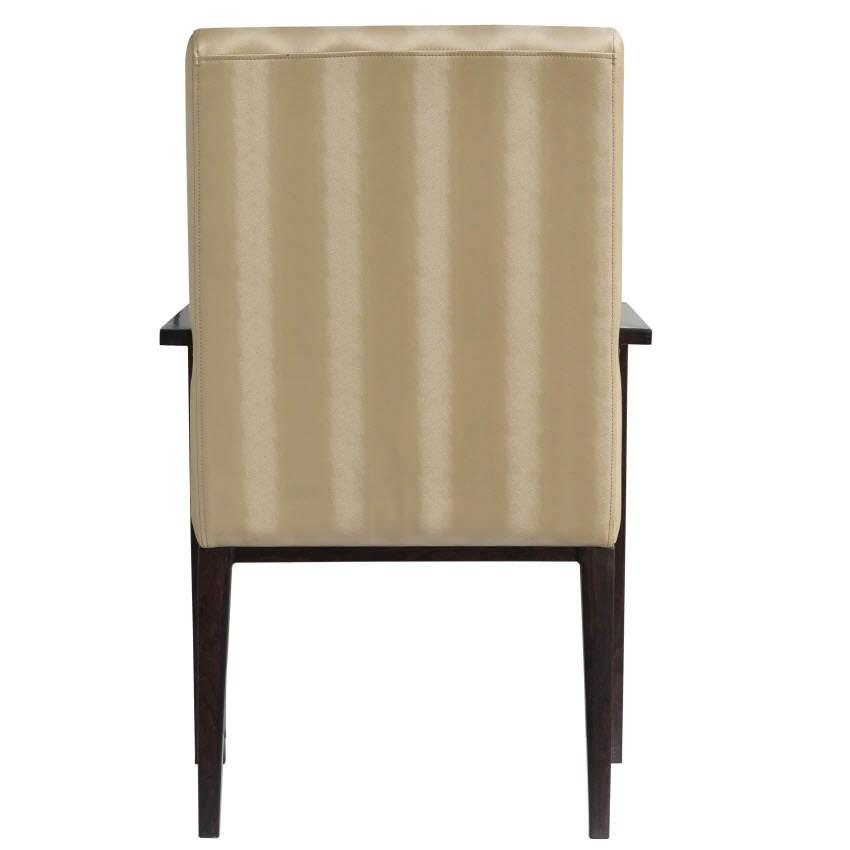 Celestino Deco Padded Wood Grain Aluminum Arm Chair