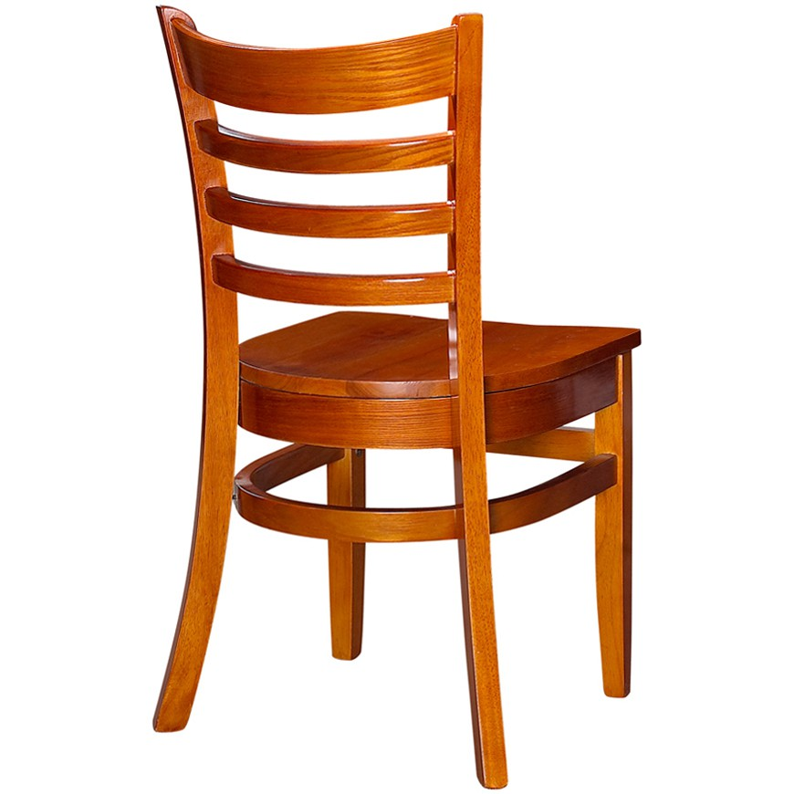Wood Ladder Back Chair Cherry Finish With Seat