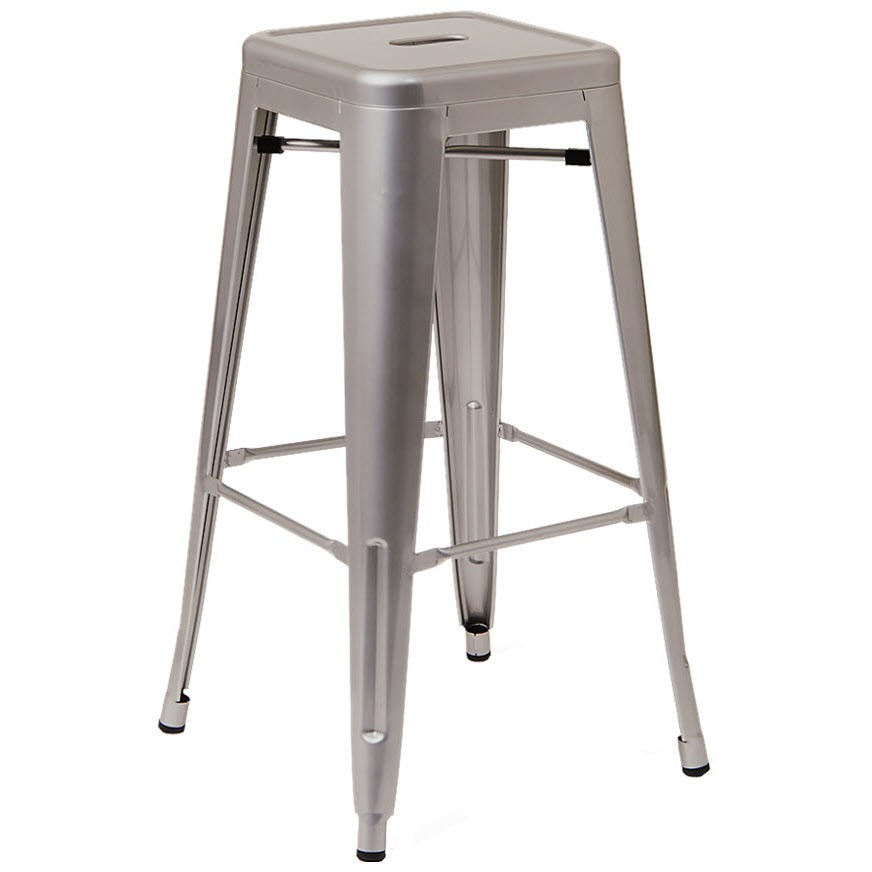 Bistro Style Metal Backless Bar Stool in Light Grey Finish : erat 21 bs lgr rf from www.restaurantfurniture.net size 872 x 872 jpeg 51kB