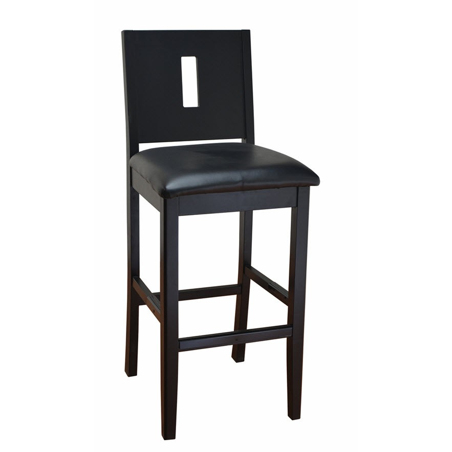 modern deco wood bar stool. Black Bedroom Furniture Sets. Home Design Ideas