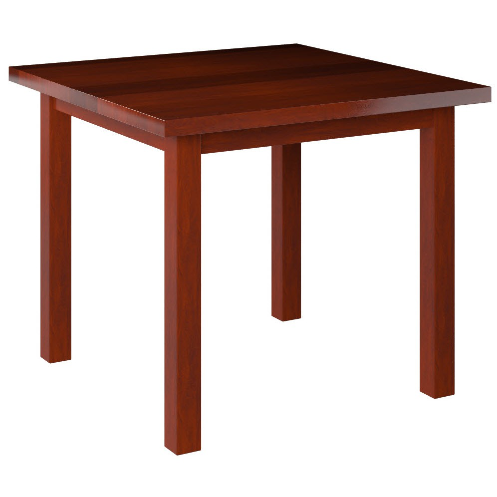... Solid Wood Plank Table Top With Wood Legs   Mahogany Wood Finish ...