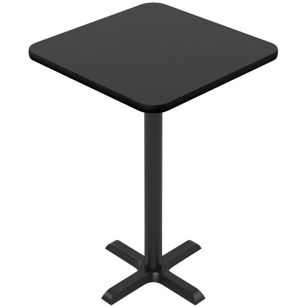 Laminate Reversible Restaurant Table In Black / Mahogany