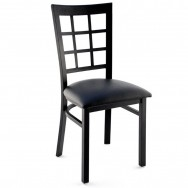 Window Back Metal Restaurant Chair
