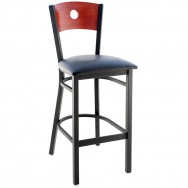 Interchangeable Back Metal Restaurant Bar Stool with Circled Back
